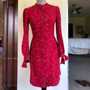 Banana Republic Red Shirt Dress